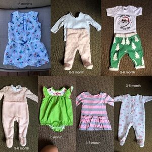 Range of clothes 0-3 months- 6 months